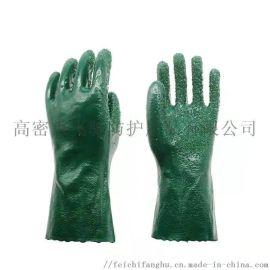 舒耐特PVC顆粒耐油耐酸堿手套石油工業用勞保手套
