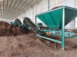 临沂市粪便有机肥料生产流水线-对辊挤压造粒机设备