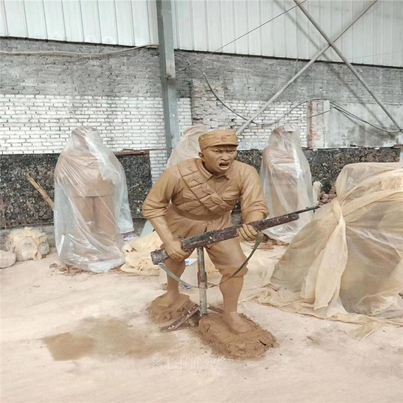 定制佛山爱国主题雕塑大型玻璃钢造型雕塑