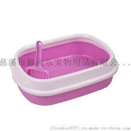 厂家直销塑料猫砂盆,小号椭圆猫砂盆