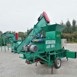 大型秸秆压块机 饲料液压压块机 牧草饲料压块机