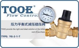 进口水用减压阀 美国图尔TOOE可调式支管减压阀