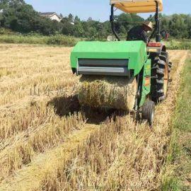 干草圆草捆打捆机 农业畜牧悬挂式扎捆机 自动秸秆捡拾打捆机