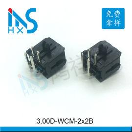 3.0间距双排弯针插座