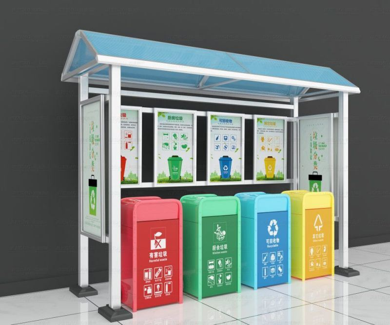 定制工厂户外垃圾分类回收亭多少价钱