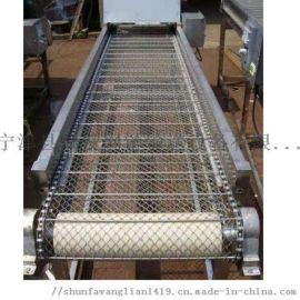 链板输送机可定制小型台式不锈钢板式输送机