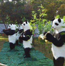 熊猫展 机械熊猫乐队 熊猫模型 卡通熊猫 **真熊猫模型