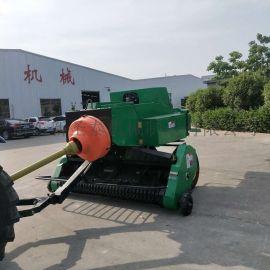 塔城秸秆方捆压捆机 稻草打包方捆机工作视频