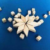 供应各种规格干抛磨料四方木粒,竹粒