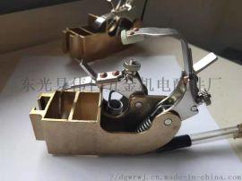 直流电机刷架 双压支精密铸造铜刷盒
