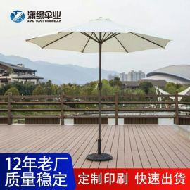 中柱太阳伞户外手摇遮阳伞休闲沙滩庭院伞定做工厂