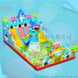 陕西宝鸡广场儿童充气滑梯蹦床卡通造型款式多