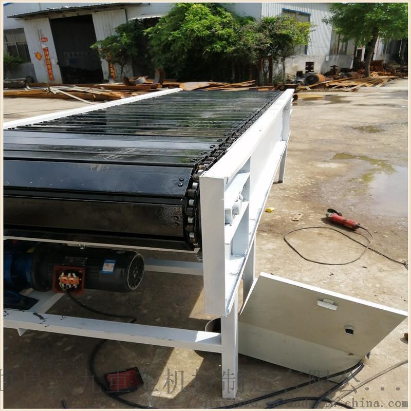 平頂鏈板輸送機 刮板輸送機工作原理 LJXY 板鏈