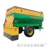 使用方便自動拋糞機 四輪帶3.5方大容量撒糞車