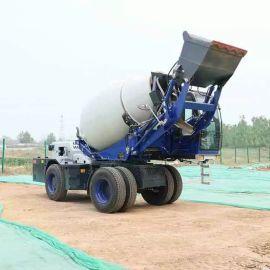 厂家供应 混凝土攪拌車 全自动混凝土自上料攪拌車