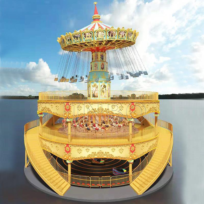 旋转类大型游乐设备豪华转马摇头飞椅碰碰车游乐设施