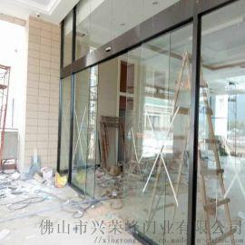 廣州越秀自動感應門,黑鈦不鏽鋼感應門