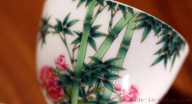 手绘珐琅彩,景德镇瓷器茶具定制,御贡堂瓷窑直销