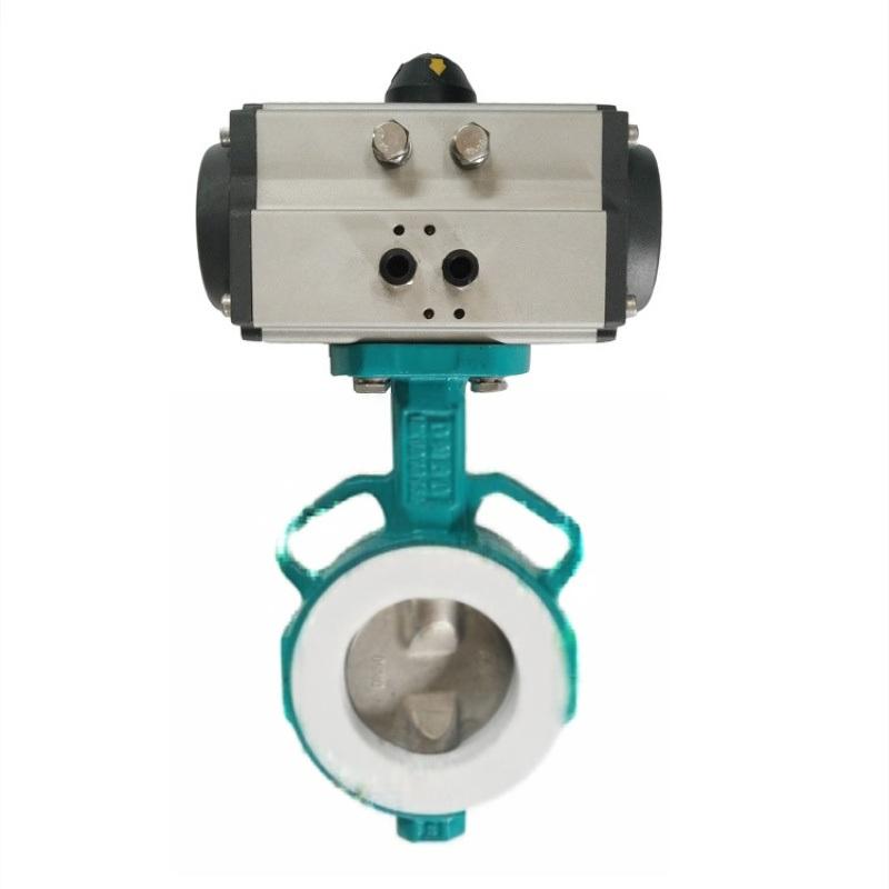 精嘉气动卫生级对夹蝶阀国产定位器