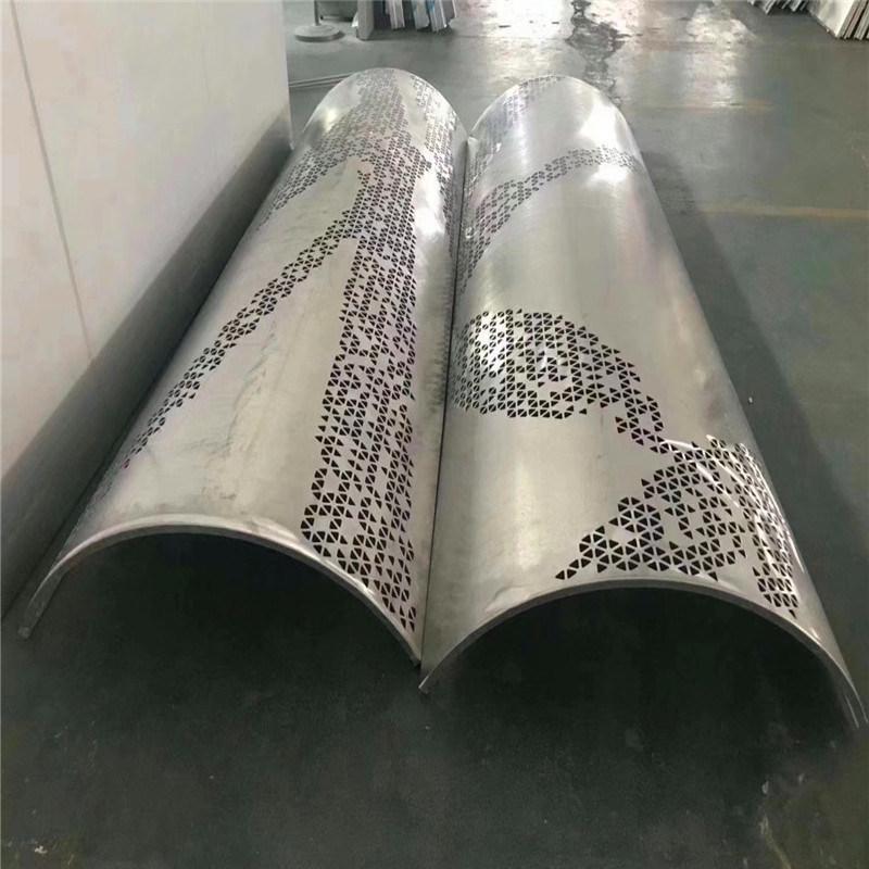 凹凸包柱铝单板 珍珠孔包柱铝单板 透光包柱铝单板