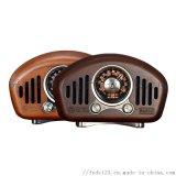 私模复古实木 创意多功能收音机蓝牙音箱