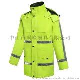 广东顶峰实力雨衣品牌-三层复合透湿交巡雨衣反光新式