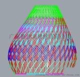 企鵝酒店扭曲拉彎鋁方管造型 中庭圓形拉彎