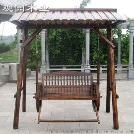 户外防腐木秋千 小桥 桌椅 防腐木结构直销