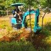 小挖土机电缆挖沟机价格 电线杆基础挖坑机 六九重工