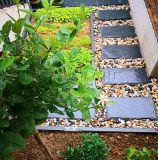 供應踏步石汀步石腳踏石天然青石板圓形不規則草坪石