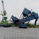 四川集裝箱卸料環保型輸送機 粉煤灰水泥集裝箱卸車機