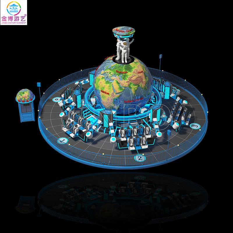 新型戶外遊樂場項目48人流浪地球大型遊樂設施製造商
