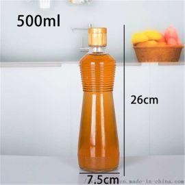 玻璃麻油瓶螺丝麻油瓶500ml