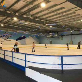 白色PE轮滑场围栏 金属框架冰球场栏挡板防撞击