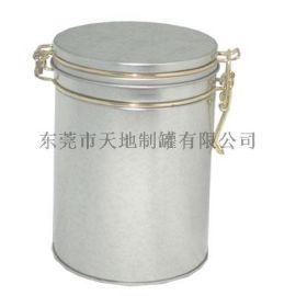 铁扣密封茶叶罐 马口铁圆形罐 **茶叶铁罐包装