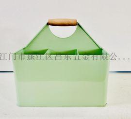 提手蓝花盆,铁皮桶绿植盆栽花盆,迷你小花盆