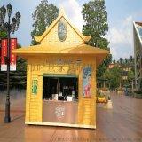 性能可靠實木食品小吃售賣亭