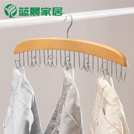 包邮皮带丝巾收纳衣架 多功能领带挂皮包领结帽子家用整理实木架