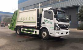 国六东风纯电动环卫8方压缩式垃圾车