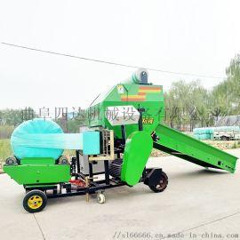 全自动网绳两用打捆机,玉米秸秆饲料打捆机