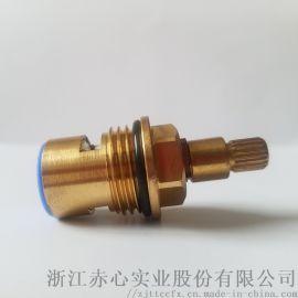 厂家供应快开铜混水阀阀芯水暖配件水龙头芯定制