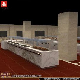 专业设计自助餐台 机关单位政府餐厅自助餐线