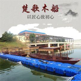 湖南张家界旅游船厂家出售古代木船多少钱一艘