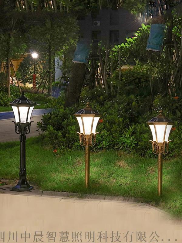 四川德陽太陽能庭院燈 防水3米景觀燈