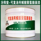 可復塗丙烯酸聚氨酯面漆、生產銷售、塗膜堅韌