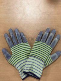 薄款尼龙斑马纹无胶手套**透气舒适防护劳保手套