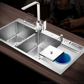 纳米水槽手工盆304