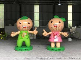突出朝气蓬勃绮花晨生教育玻璃钢校园吉祥物雕塑模型