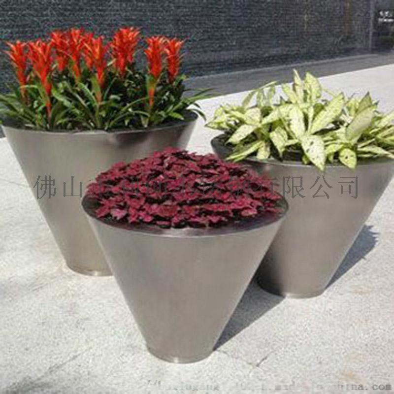 多肉創意花盆,圓形不鏽鋼花盆,不鏽鋼花盆