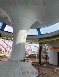 欧州城3D打印彩绘包柱铝单板 大堂3D包柱铝单板